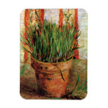 Van Gogh - Flowerpot With Chives Rectangle Magnets
