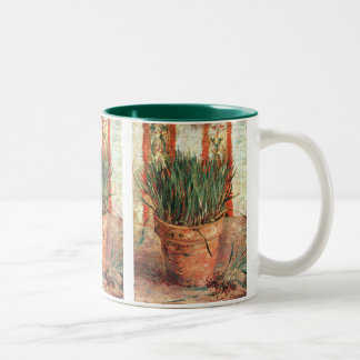 Van Gogh: Flowerpot with Chives Two-Tone Coffee Mug