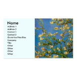Van Gogh Flowers Art, Blossoming Almond Tree Double-Sided Standard Business Cards (Pack Of 100)