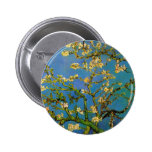 Van Gogh Flowers Art, Blossoming Almond Tree Pinback Button