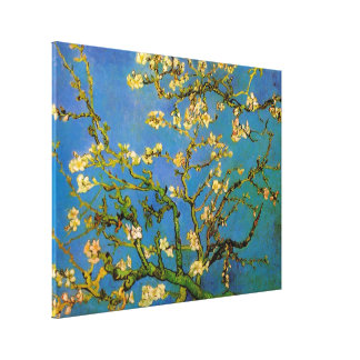 Van Gogh Flowers Art, Blossoming Almond Tree Gallery Wrap Canvas