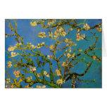 Van Gogh Flowers Art, Blossoming Almond Tree Greeting Cards