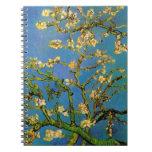 Van Gogh Flowers Art, Blossoming Almond Tree Notebook