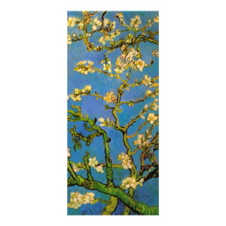 Van Gogh Flowers Art, Blossoming Almond Tree Rack Card Template