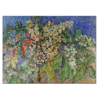 Van Gogh Flowers Art, Blossoming Chestnut Branches Cutting Boards
