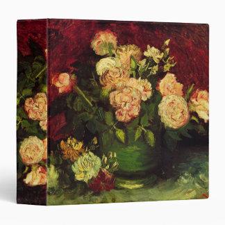 Van Gogh Flowers Art, Bowl with Peonies and Roses Vinyl Binders
