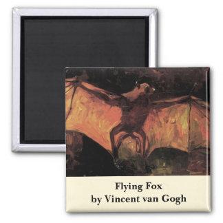 Van Gogh Flying Fox (Bat), Vintage Still Life Art Magnet