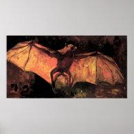 Van Gogh Flying Fox Poster