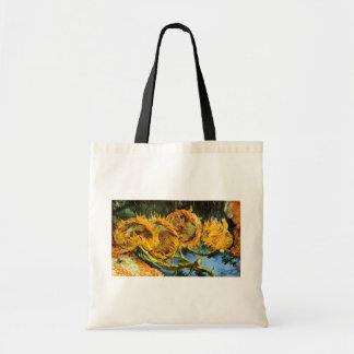 Van Gogh - Four Cut Sunflowers Budget Tote Bag