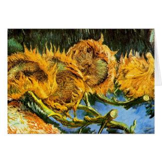 Van Gogh - Four Cut Sunflowers Greeting Card