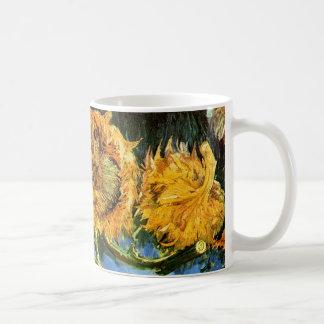 Van Gogh - Four Cut Sunflowers Classic White Coffee Mug