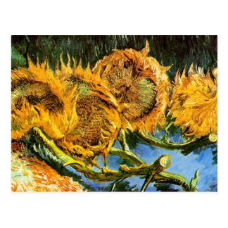 Van Gogh - Four Cut Sunflowers Postcard