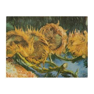 Van Gogh Four Cut Sunflowers, Vintage Fine Art