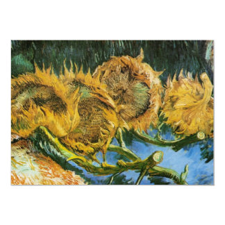 Van Gogh Four Cut Sunflowers, Vintage Fine Art Card