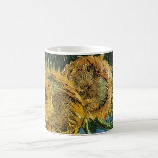 Van Gogh Four Cut Sunflowers, Vintage Fine Art Coffee Mug