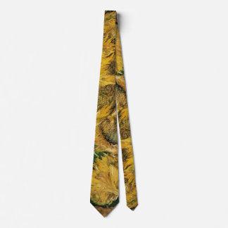 Van Gogh Four Cut Sunflowers, Vintage Fine Art Tie