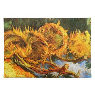 Van Gogh: Four Sunflowers Cloth Placemat