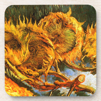 Van Gogh: Four Sunflowers Drink Coaster