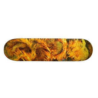 Van Gogh: Four Sunflowers Skateboard