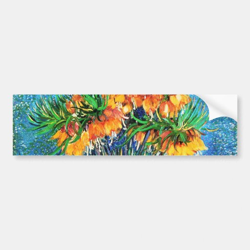 Van Gogh Fritillaries Copper Vase (F213) Fine Art Bumper Stickers