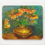 Van Gogh Fritillaries Copper Vase (F213) Fine Art Mousepads