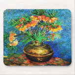 Van Gogh Fritillaries Copper Vase (F213) Fine Art Mousepad