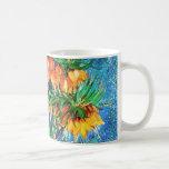 Van Gogh Fritillaries Copper Vase (F213) Fine Art Classic White Coffee Mug