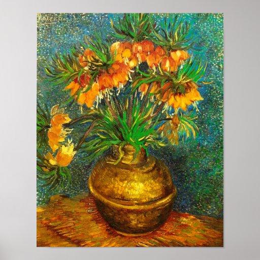 Van Gogh Fritillaries Copper Vase (F213) Fine Art Print