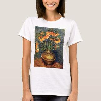 Van Gogh Fritillaries in a Copper Vase, Fine Art T-Shirt