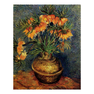 Van Gogh Fritillaries in a Copper Vase Print