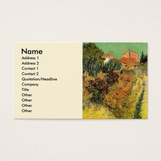 Van Gogh Garden Behind a House, Vintage Fine Art Business Card
