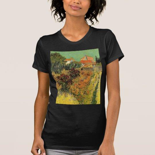 Van Gogh Garden Behind a House, Vintage Fine Art T-Shirt