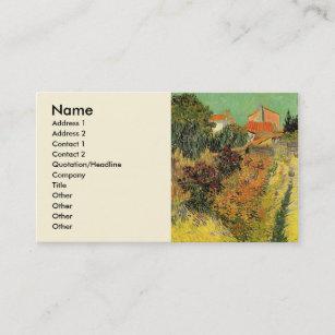 Fine art business cards zazzle van gogh garden behind a house vintage fine art business card colourmoves