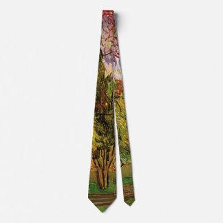 Van Gogh Garden of Saint Paul Hospital, Fine Art Tie