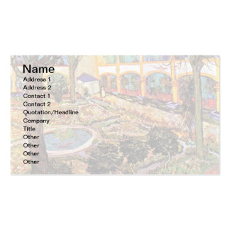 Van Gogh - Garden Of The Hospital In Arles Business Card
