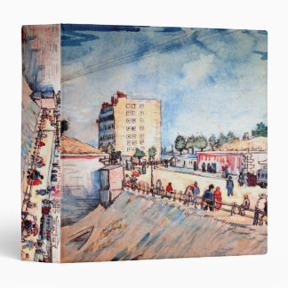 Van Gogh; Gate in Paris Ramparts, Vintage Fine Art 3 Ring Binder
