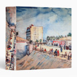 Van Gogh; Gate in Paris Ramparts, Vintage Fine Art Vinyl Binder