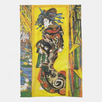 Van Gogh Geisha Hand Towel