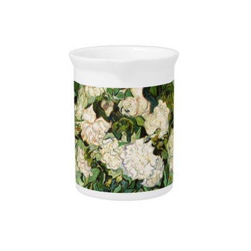 Van Gogh Gifts Still Life w/ Roses Impressionism Drink Pitchers