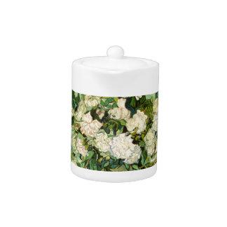 Van Gogh Gifts Still Life w/ Roses Impressionism Teapot