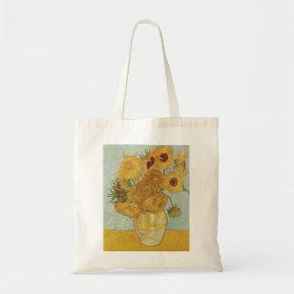 Van Gogh - girasoles Bolsa Tela Barata