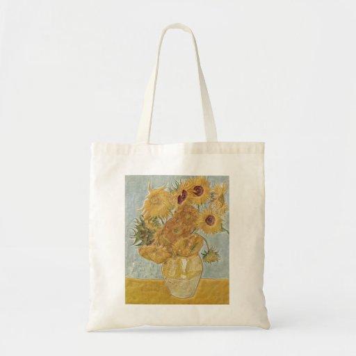 Van Gogh - girasoles del florero doce Bolsa