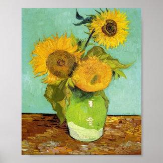 Van Gogh - girasoles Póster
