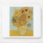 Van Gogh - girasoles Tapete De Ratón