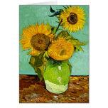 Van Gogh - girasoles (tres), pintura de Van Gogh Tarjetas