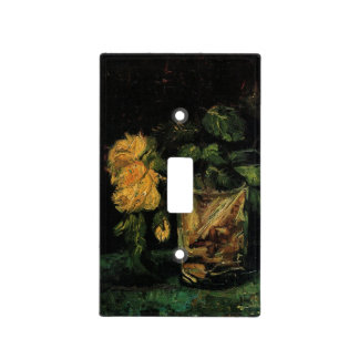 Van Gogh Glass with Roses Vintage Fine Art Flowers Light Switch Cover