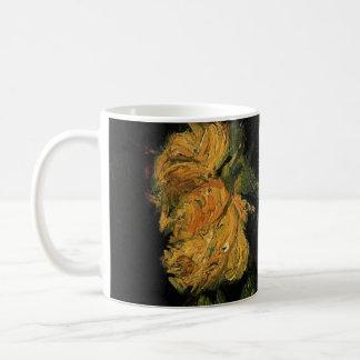 Van Gogh, Glass with Roses, Vintage Floral Flowers Coffee Mug