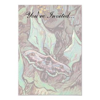 """Van Gogh - gran polilla del pavo real Invitación 3.5"""" X 5"""""""