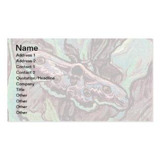 Van Gogh - gran polilla del pavo real Plantilla De Tarjeta Personal