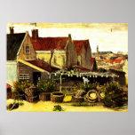 Van Gogh; Granero de sequía de los pescados, culti Posters